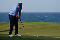 Callum Shinkwin (ENG) on the 18th during Round 4 of the Oman Open 2020 at the Al Mouj Golf Club, Muscat, Oman . 01/03/2020<br /> Picture: Golffile | Thos Caffrey<br /> <br /> <br /> All photo usage must carry mandatory copyright credit (© Golffile | Thos Caffrey)