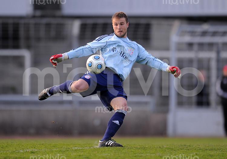 FUSSBALL 3. BUNDESLIGA  SAISON 2009/2010      22. Spieltag: FC Bayern Muenchen II - Carl Zeiss Jena     20.04.2010 Torwart Michael Rensing (FCB)