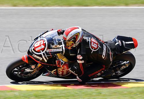 06 06 2010 Vladimir Ivanov UKR Moriwaki. Moto2 class, 600cc spec Honda eninges in prototype chassis. Gran Premio d'Italia TIM, Mugello circuit, Italy.