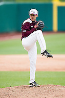 Matt Hall #32 of the Missouri State Bears winds up during a game against the Wichita State Shockers at Hammons Field on May 5, 2013 in Springfield, Missouri. (David Welker/Four Seam Images)