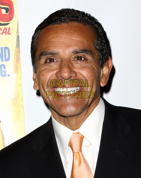 "LA Mayor ANTONIO VILLARAIGOSA  .Broadway Musical Los Angeles premiere Of  ""In the Heights"" held at The Pantages Theatre, Hollywood, CA, USA..June 23rd, 2010.headshot portrait black white orange.CAP/ADM/KB.©Kevan Brooks/AdMedia/Capital Pictures."