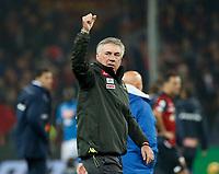 10th November 2018, Stadio Luigi Ferraris, Genoa, Italy; Serie A football, Genoa versus Napoli; <br /> Carlo Ancelotti coach of Napoli  after win the game
