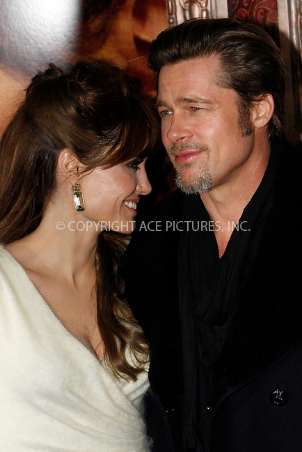 WWW.ACEPIXS.COM . . . . .  ....December 6 2010, New York City....Actors Angelina Jolie and Brad Pitt arriving at the World premiere of 'The Tourist' at Ziegfeld Theatre on December 6, 2010 in New York City.....Please byline: NANCY RIVERA- ACEPIXS.COM.... *** ***..Ace Pictures, Inc:  ..Tel: 646 769 0430..e-mail: info@acepixs.com..web: http://www.acepixs.com