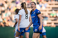Seattle, Washington - Saturday, July 2nd, 2016: Seattle Reign FC defender Kendall Fletcher (13) reacts to a call during a regular season National Women's Soccer League (NWSL) match between the Seattle Reign FC and the Boston Breakers at Memorial Stadium. Seattle won 2-0.