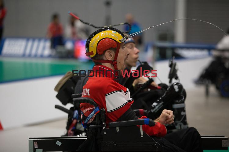 Pieter Cilissen (BEL)<br /> BISFed 2018 World Boccia Championships <br /> Exhibition Centre Liverpool<br /> 12.08.18<br /> &copy;Steve Pope<br /> Sportingwales