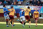 15.12.2019 Motherwell v Rangers: Nikola Katic heads in to score for Rangers