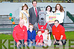 LAUNCH: The Kerry Rose Si?le Ni? Dheargain launching the Jigsaw Benefit Night to be held at the Kingdom Greyhound Stadium on Saturday 25th of June front l-r: Richard O'Halloran, Jordon Tearle, Sinead Carr, Megan Tearle and Jason Brick. Back l-r: Kerry Rose Si?le Ni? Dheargain, Declan Dowling (sales and operational manager KGS), Ruth Baker and Sadhbh Baker.