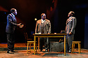 """The West End transfer of the Young Vic production of Arthur Miller's """"Death of a Salesman"""", produced by Elliott & Harper Productions and Cindy Tolan, starring Wendell Pierce and Sharon D Clarke, begins its run at the Piccadilly Theatre in London, where it will run until 4th January 2020. Picture shows: Sope Dirisu (Biff), Wendell Pierce (Willy Loman), Natey Jones (Happy)."""