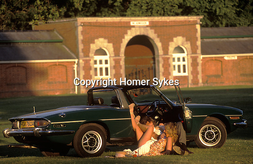 Royal Ascot Ladies Day. Open air sex in Car Park Number 1. Berkshire Circa 1985