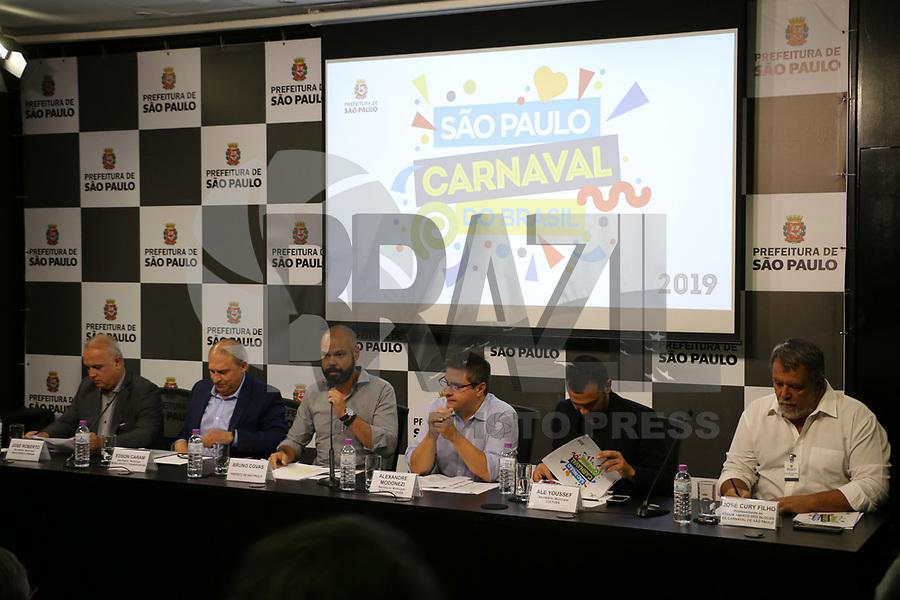 SÃO PAULO, SP, 13.02.2019: CARNAVAL-SP: Bruno Covas, Prefeito de São Paulo, concede coletiva de imprensa para detalhamento do Carnaval de Rua de São Paulo 2019, nesta quarta-feira, 13. (Foto: Charles Sholl/Brazil Photo Press)