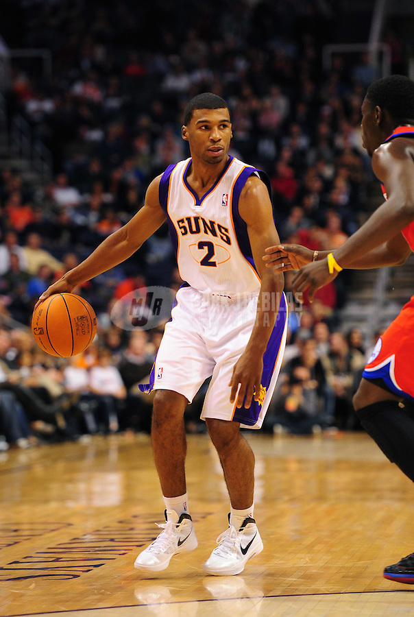 Dec. 28, 2011; Phoenix, AZ, USA; Phoenix Suns guard Ronnie Price during game against the Philadelphia 76ers at the US Airways Center. The 76ers defeated the Suns 103-83. Mandatory Credit: Mark J. Rebilas-USA TODAY Sports