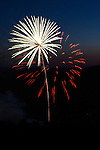 Northstar Fireworks of East Montpelier provided fireworks after the Vermont Mountaineers double header baseball games with Plymouth Pilgrams.