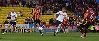 Preston North End's Tom Barkhuizen scores his sides third goal<br /> <br /> Photographer Dave Howarth/CameraSport<br /> <br /> The Carabao Cup First Round - Bradford City v Preston North End - Tuesday 13th August 2019 - Valley Parade - Bradford<br />  <br /> World Copyright © 2019 CameraSport. All rights reserved. 43 Linden Ave. Countesthorpe. Leicester. England. LE8 5PG - Tel: +44 (0) 116 277 4147 - admin@camerasport.com - www.camerasport.com