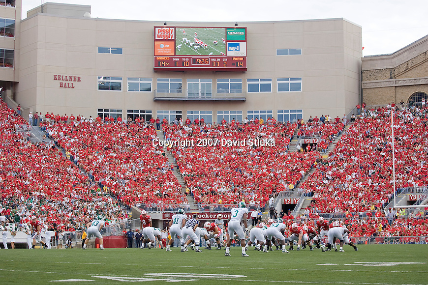 MADISON, WI - SEPTEMBER 29: A general view of Kellner Hall during the Wisconsin Badgers game against the Michigan State Spartans at Camp Randall Stadium on September 29, 2007 in Madison, Wisconsin. The Badgers beat the Spartans 37-34. (Photo by David Stluka)