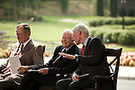 Thursday, May 31, Charlotte, North Carolina. Dedication ceremony for the new Billy Graham Library in Charlotte, North Carolina.. Former US presidents George HW Bush, Jimmy Carter and Bill Clinton.