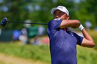 Satoshi Kodaira (JPN) watches his tee shot on 12 during Thursday's round 1 of the 117th U.S. Open, at Erin Hills, Erin, Wisconsin. 6/15/2017.<br /> Picture: Golffile | Ken Murray<br /> <br /> <br /> All photo usage must carry mandatory copyright credit (&copy; Golffile | Ken Murray)