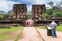 Ancient City of Polonnaruwa, tourists sightseeing at the Royal Palace (Parakramabahu's Royal Palace), UNESCO World Heritage Site, Sri Lanka, Asia. This is a photo of tourists sightseeing at the Royal Palace (Parakramabahu's Royal Palace) in the Ancient City of Polonnaruwa, a UNESCO World Heritage Site in the Cultural Triangle of Sri Lanka, Asia.