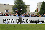 Thomas Aiken (RSA) tees off on the 1st tee to start the Final Day of the BMW PGA Championship Championship at, Wentworth Club, Surrey, England, 29th May 2011. (Photo Eoin Clarke/Golffile 2011)