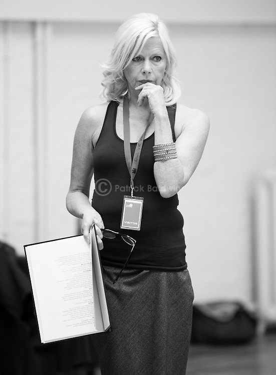 """King Lear"" rehearsed reading rehearsals. Old Vic Theatre. Director: Jonathan Miller. Felicity Dean."