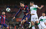 08.01.2014 Barcelona, Spain. Spanish Cup. Picture show Marc Bartra in action during game between FC Barcelona against Elche at Camp Nou