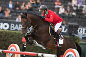 28th September 2017, Real Club de Polo de Barcelona, Barcelona, Spain; Longines FEI Nations Cup, Jumping Final; Juan Carlos GARCIA  (ITA)  riding Gitano V Berkenbroeck  during the first round of the Nations Cup