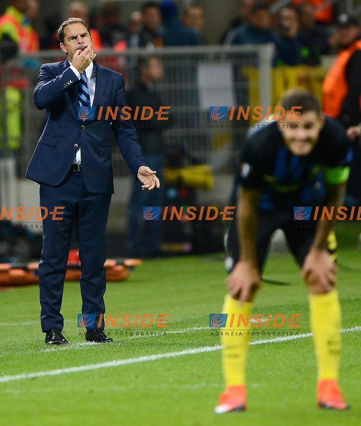 Frank De Boer allenatore Inter coach e Mauro Icardi Milano 20-10-2016 Stadio Giuseppe Meazza - Football Calcio Europa League Inter - Southampton. Foto Giuseppe Celeste / Insidefoto