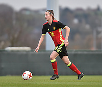 20171123 - TUBIZE , BELGIUM : Belgian Nicky Van Den Abbeele pictured during a friendly game between the women teams of the Belgian Red Flames and Russia at complex Euro 2000 in Tubize , Thursday  23 October 2017 ,  PHOTO Dirk Vuylsteke | Sportpix.Be