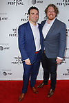 Director Matt Ratner and guest arrive at the world premiere of Standing Up, Falling Down at the 2019 Tribeca Film Festival presented by AT&T Thursday, April 25, 2019 at SVA Theater - 333 West 23 Street New York, NY.