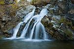 Idaho, North, St. Maries. Falls Creek Falls along the St. Joe River.