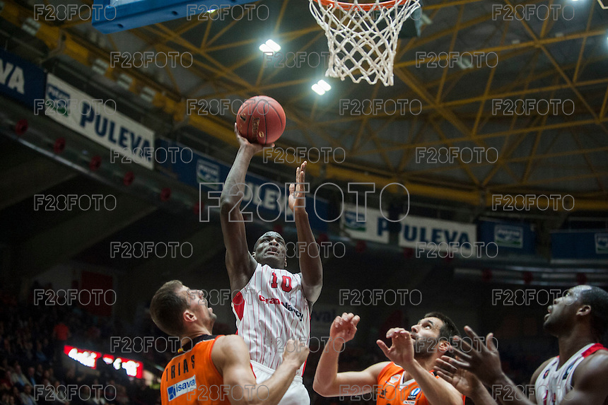 VALENCIA, SPAIN - NOVEMBER 18: Bandja Sy during EUROCUP match between Valencia Basket Club and CAI SLUC Nancy at Fonteta Stadium on November 18, 2015 in Valencia, Spain
