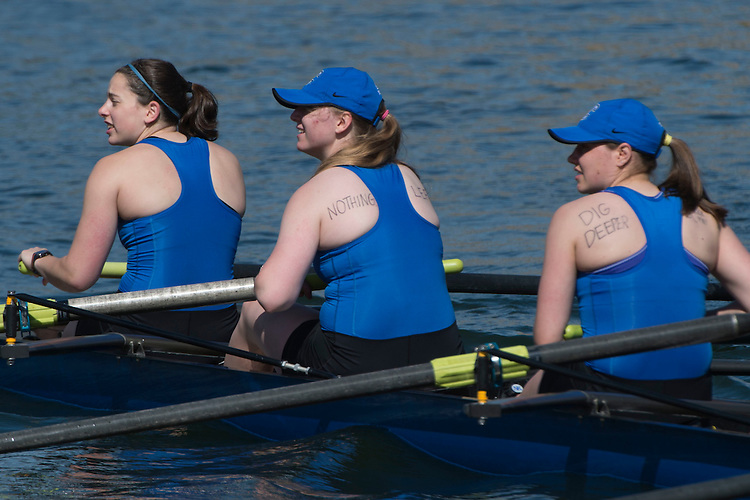 May 14, 2016; Gold River, CA, USA; I Eight Creighton Blue Jays during the WCC Rowing Championships at Lake Natoma.