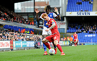 Ipswich Town's Trevoh Chalobah battles with Nottingham Forest's Jack Colback<br /> <br /> Photographer Hannah Fountain/CameraSport<br /> <br /> The EFL Sky Bet Championship - Ipswich Town v Nottingham Forest - Saturday 16th March 2019 - Portman Road - Ipswich<br /> <br /> World Copyright &copy; 2019 CameraSport. All rights reserved. 43 Linden Ave. Countesthorpe. Leicester. England. LE8 5PG - Tel: +44 (0) 116 277 4147 - admin@camerasport.com - www.camerasport.com