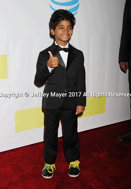 PASADENA, CA - FEBRUARY 11: Actor Sunny Pawar arrives at the 48th NAACP Image Awards at Pasadena Civic Auditorium on February 11, 2017 in Pasadena, California.