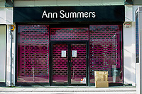 Pictured: A general view of Ann Summers in Swansea City Centre during the Covid-19 Coronavirus pandemic in Wales, UK, Swansea, Wales, UK. Monday 23 March 2020