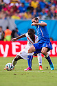 Joel Campbell (CRC), Giorgio Chiellini (ITA), JUNE 20, 2014 - Football / Soccer : FIFA World Cup Brazil 2014 Group D match between Italy 0-1 Costa Rica at Arena Pernambuco in Recife, Brazil. (Photo by Maurizio Borsari/AFLO) [0855]