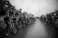 Junior Men waiting to race <br /> <br /> UCI 2016 cyclocross World Championships