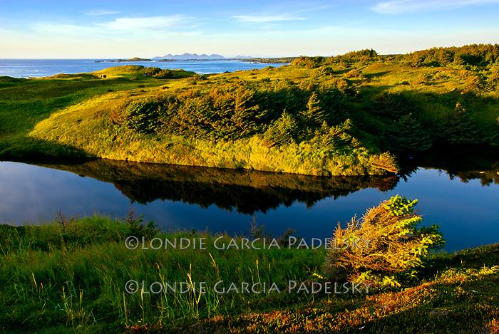 Sunset at Shuyak Island, Shuyak Island State Park, an island in the northern part of Kodiak Archipelago, Alaska