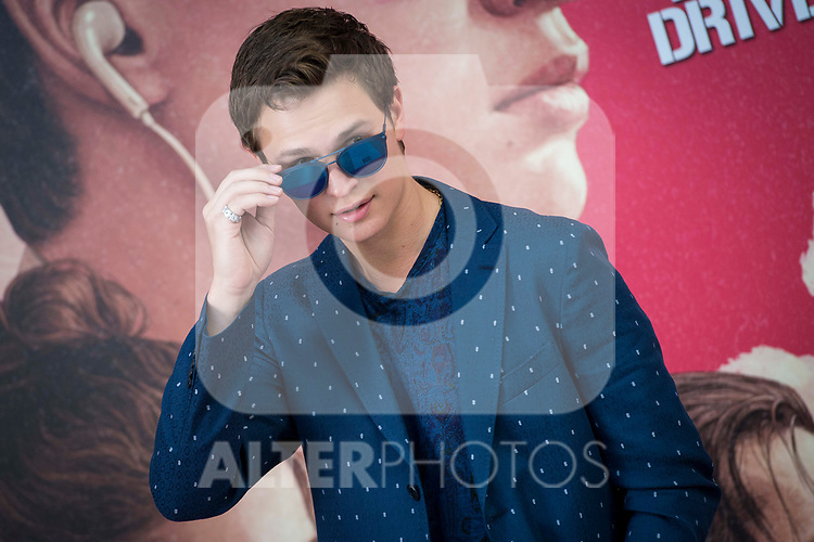 American actor Ansel Elgort attends to the presentation of the film 'Baby Driver' at Villa Magna Hotel in Madrid, June 23, 2017. Spain.<br /> (ALTERPHOTOS/BorjaB.Hojas)