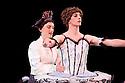 Columbine (Rafaelle Morra) and HArlequin (Fernando Medina Gallego). Les Ballets Trockadero de Monte Carlo perform Harlequinade in Programme 2 at the Peacock Theatre (Sadlers Wells), 17.9.10. Photograph by Jane Hobson
