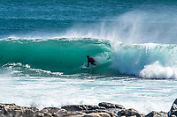 MARGARET RIVER, Western Australia/AUS (Wednesday, March 29, 2017) Joel Parkinson (AUS)  - The Drug Aware Margaret River Pro got underway today in historic fashion with the first round of the contest being held at North Point, Gracetown about 20 kilometres north of the Margaret River main Break.<br /> A 4.5 meter south swell and offshore winds  were the motivation for the move with North Point providing barrelling 2 meter plus right handers.<br /> Margaret River area on Western Australia offers an exciting field of play for the world's surfing elite, with the other options at Main Break and The Box. <br /> There were a number of surprising results with injury wild card Jesse Mendes (BRA) and tour rookie Ian Gouveia (BRA) winning through with the current World Champion, John John Florence (HAW), Jordy Smith (ZAF) and Kelly Slater (USA) had convincing wins.   Photo: joliphotos.com