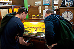San Francisco: Musee Mechanique, coin operated mechanized arcade games, such as Play Baseball, Pier 39, Fisherman's Wharf.  Photo copyright Lee Foster. Photo # casanf104176