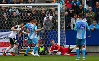 Bolton Wanderers' goalkeeper Matthew Alexander saves at close range<br /> <br /> Photographer Andrew Kearns/CameraSport<br /> <br /> The EFL Sky Bet Championship - Bolton Wanderers v Coventry City - Saturday 10th August 2019 - University of Bolton Stadium - Bolton<br /> <br /> World Copyright © 2019 CameraSport. All rights reserved. 43 Linden Ave. Countesthorpe. Leicester. England. LE8 5PG - Tel: +44 (0) 116 277 4147 - admin@camerasport.com - www.camerasport.com
