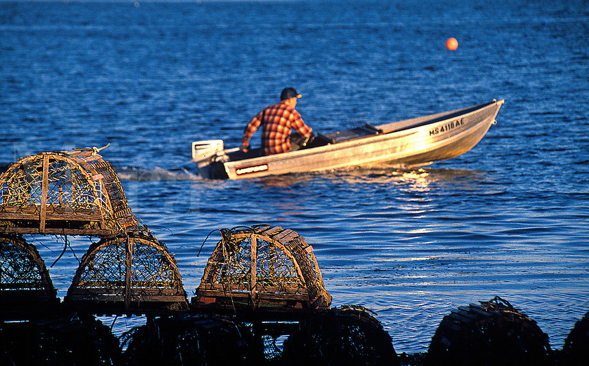 Lobsterman going out to his boat.