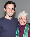 Ari Brand and Adena Potok attends the Meet & Greet for the new Off-Broadway Play 'My Name Is Asher Lev'  at the Davenport Studios on 10/22/2012 in New York City.