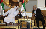 Palestinian President Mahmoud Abbas during the meeting with the UAE President Sheikh Khalifa bin Zayed Al Nahyan in Abu Dhabi on Feb 24,2010. Photo by Thaer Ganaim