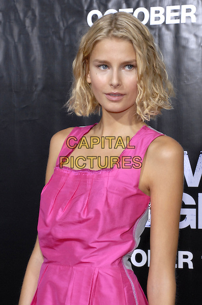 "HANA SOUKUPOVA.The New York premiere of ""We Own the Night"" held at Clearview Chelsea West, New York, New York, USA,.October 9th, 2007.half length pink dress .CAP/ADM/BL.©Bill Lyons/AdMedia/Capital Pictures. *** Local Caption ***"