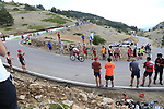 Jhon Darwin Atapuma Hurtado (COL) Cofidis on the final Cat 1 climb up to Observatorio Astrofisico de Javalambre during Stage 5 of La Vuelta 2019 running 170.7km from L'Eliana to Observatorio Astrofisico de Javalambre, Spain. 28th August 2019.<br /> Picture: Ann Clarke | Cyclefile<br /> <br /> All photos usage must carry mandatory copyright credit (© Cyclefile | Ann Clarke)