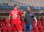 Fussball - 3.Bundesliga - Saison 2019/20<br /> Kaiserslautern -  Fritz-Walter-Stadion 4.7.2020<br /> 1. FC Kaiserslautern (fck) - FC Bayern München II (fcb) 1:0<br /> Trainer Boris SCHOMMERS (1. FC Kaiserslautern), re mit Janik Jay BACHMANN (1. FC Kaiserslautern) <br /> <br /> Foto © PIX-Sportfotos *** Foto ist honorarpflichtig! *** Auf Anfrage in hoeherer Qualitaet/Aufloesung. Belegexemplar erbeten. Veroeffentlichung ausschliesslich fuer journalistisch-publizistische Zwecke. For editorial use only. DFL regulations prohibit any use of photographs as image sequences and/or quasi-video.