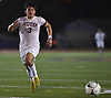 Andrew Weiner #3 of Mepham chases down a loose ball during the Nassau County varsity boys soccer Class A final against Garden City at Mitchel Athletic Complex in Uniondale on Wednesday, Oct. 31, 2018. He scored the lone goal early in the first half to lead Mepham to a 1-0 win.