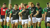 Ireland U20s players leave the field after warming up<br /> <br /> Photographer Alex Dodd/CameraSport<br /> <br /> RBS Six Nations U20 Championship Round 4 - Wales U20s v Ireland U20s - Saturday 11th March 2017 - Parc Eirias, Colwyn Bay, North Wales<br /> <br /> World Copyright &copy; 2017 CameraSport. All rights reserved. 43 Linden Ave. Countesthorpe. Leicester. England. LE8 5PG - Tel: +44 (0) 116 277 4147 - admin@camerasport.com - www.camerasport.com